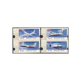 INDONESIA (1996). Aviones - violeta - 0002. ATMs nuevos (700)