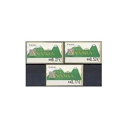 ANDORRA. Montañas verdes- 4. EUR-5E-0280. Serie 3 val. (2004)