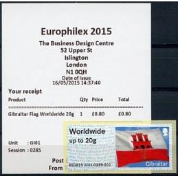 GIBRALTAR (2015).  Flag of...