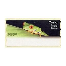 COSTA RICA (2003).  Rana calzonuda (Agalychnis callidryas).  Etiqueta en blanco
