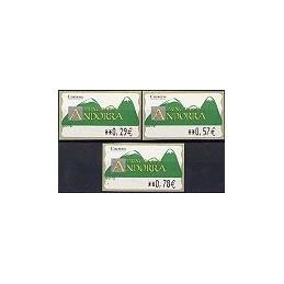 ANDORRA. Montañas verdes- 4. EUR-5E-0083. Serie 3 val. (2006)