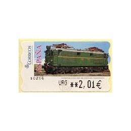 ESPAÑA (2005). 128. Locomotora Estado Serie 1000. Ferrocarril transpirenaico. Epelsa LF-5E. ATM nuevo (URG 2,01 €)