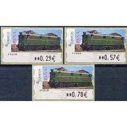 ESPAÑA (2005). 128. Locomotora Estado Serie 1000. Ferrocarril transpirenaico. Epelsa LF-5E. Serie 3 valores
