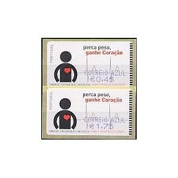 PORTUGAL. Coraçao - SMD - Azul. Serie 2 val. + rec.-C. AZU