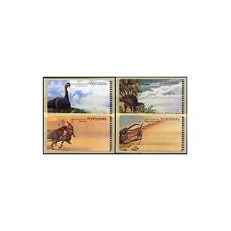 PORTUGAL (1999).  Dinosaurios. Etiquetas en blanco