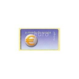 PORTUGAL (2002). Euro, a moeda. Etiqueta en blanco