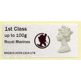 REINO UNIDO (2015). Reina Isabel II (Machin) - MA13 - 'Royal Marines' + logo - BNGB15 A005. ATM nuevo