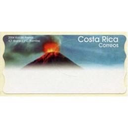 COSTA RICA (2004). 2004 Volcán Arenal ICT Bruno J. / C. Ramírez.  Etiqueta en blanco