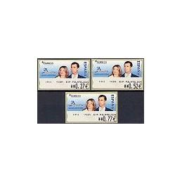 ESPAÑA. 108. ESPAÑA 2004 - 1411 + texto. Serie 3 val.