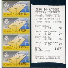 SPAIN (1994). 9. Letter....