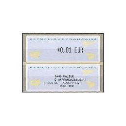 FRANCIA (2002). 1- Aviones papel. ATM nuevo + rec.