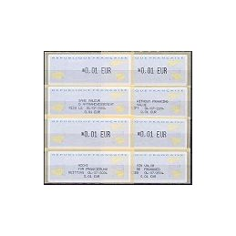 FRANCIA (2002). 1- Aviones papel. ATMs nuevos + rec. x 4