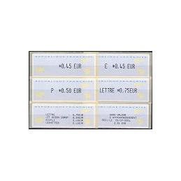 FRANCIA (2002). 1- Aviones papel. Serie 4 val. + rec. (2004)