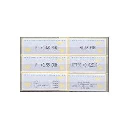 FRANCIA (2002). 1- Aviones papel. Serie 4 val. + rec. (2005)