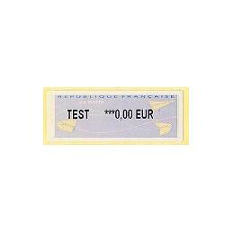 FRANCIA (2004). Aviones papel (2). Etiqueta TEST