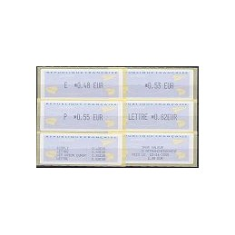 FRANCIA (2004). Aviones papel (2) T+F - Monétel. Serie 4 v. + re