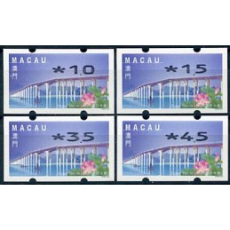 MACAU (2001). Puente - Ponte 'Flor de Lótus' - REIMP 2000 - Nagler. Serie 4 valores (2001)