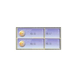 PORTUGAL (2002). Euro, a moeda - Crouzet negro. Serie 4 val. (03