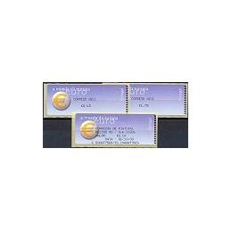 PORTUGAL (2002). Euro, a moeda - Crouzet negro. Serie 2 val. + r