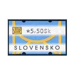 ESLOVAQUIA (2001). Logotipo correo. ATM nuevo
