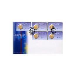 PORTUGAL (2002). Euro, a moeda - NewVision. Sobre 1r. día