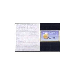 PORTUGAL (2002). Euro, a moeda - Amiel - coma. ATM nuevo (0,30)
