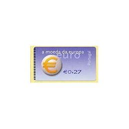 PORTUGAL (2002). Euro, a moeda - SMD. ATM nuevo (0,27)