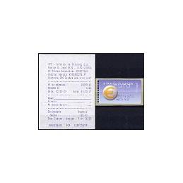 PORTUGAL (2002). Euro, a moeda - SMD. ATM nuevo (C. AZUL) + rec.