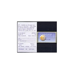 PORTUGAL (2002). Euro, a moeda - SMD. ATM nuevo (0,30) + rec.