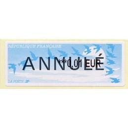 FRANCIA (1999). Pájaros (2) - LISA 2. Etiqueta test (ANNULÉ - 0,01 EUR)