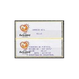 PORTUGAL (2003). Euro 2004 - Crouzet violeta. C. AZUL. ATM + rec