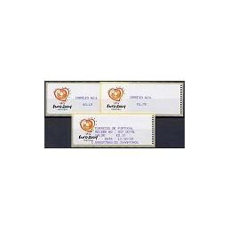 PORTUGAL (2003). Euro 2004 - Crouzet violeta. C. AZUL. Serie 2 v