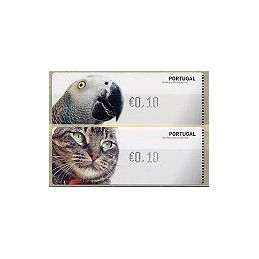PORTUGAL. Animais. CROUZET - negro. ATMs nuevos (0,10 EUR)