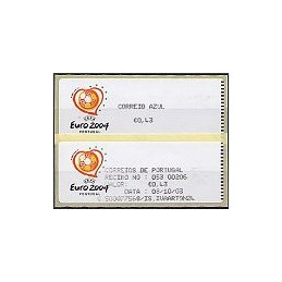 PORTUGAL (2003). Euro 2004 - Crouzet negro. C. AZUL. ATM + rec.