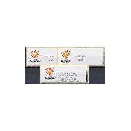 PORTUGAL (2003). Euro 2004 - Crouzet negro. C. AZUL. Serie + rec