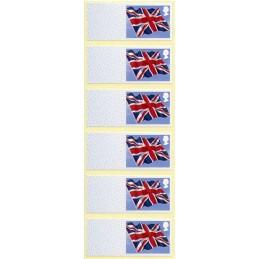 REINO UNIDO (2013). Union flag (Bandera del Reino Unido) - MA13.  Etiquetas en blanco, tira de 6
