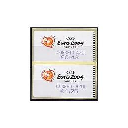 PORTUGAL (2003). Euro 2004 - SMD. C. AZUL. Serie 2 val. + rec.