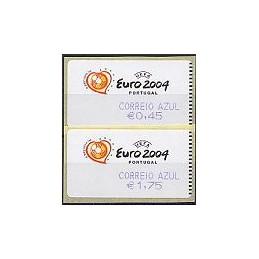 PORTUGAL (2003). Euro 2004 - SMD. C. AZUL. Serie + rec. (2004)
