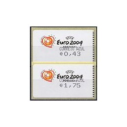 PORTUGAL (2003). Euro 2004 - Amiel negro. C. AZUL. Serie 2 val.
