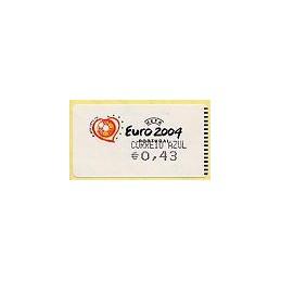 PORTUGAL (2003). Euro 2004 - Amiel negro. C. AZUL. ATM nuevo