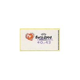 PORTUGAL (2003). Euro 2004 - Amiel violeta, coma. ATM (C. Azul)
