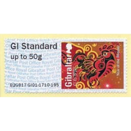 GIBRALTAR (2017). Year of the Rooster - B2GB17 GI01 (Spring Stampex 2017). ATM nuevo (GI Standard)