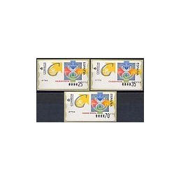 ESPAÑA. 31. Calidad postal. PTS-6E. Serie 3 val.
