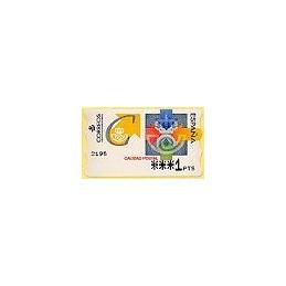 ESPAÑA. 31. Calidad postal. PTS-4 Mobba. ATM nuevo (1 PTS)