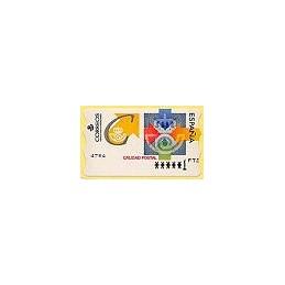 ESPAÑA. 31. Calidad postal. PTS-6E. ATM nuevo (1 PTS)
