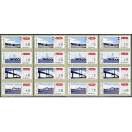 DINAMARCA (2008). Puentes Dinamarca (2.1). Serie 16 valores