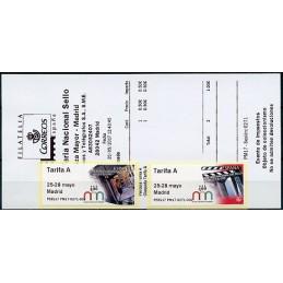ESPAÑA (2017). 03. XLIX Feria Nacional del Sello - P5ES17 PM17 - ' 25-28 mayo Madrid '. ATMs nuevos (Tarifa A) + recibo