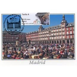 ESPAÑA (2017). 03. XLIX Feria Nacional del Sello - B5ES17 ES01 - ' 25-28 mayo Madrid '. Tarjeta máxima (Plaza Mayor)