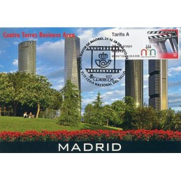 ESPAÑA (2017). 03. XLIX Feria Nacional del Sello - B5ES17 ES01 - ' 25-28 mayo Madrid '. Tarjeta máxima (Cuatro Torres)