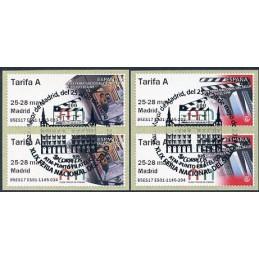 ESPAÑA (2017). 03. XLIX Feria Nacional del Sello - B5ES17 ES01 - ' 25-28 mayo Madrid '. ATMs (Tarifa A), matasello primer día